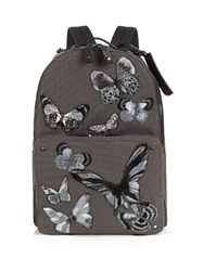 Valentino Butterfly Applique Canvas Backpack Multi