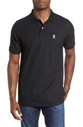 Psycho Bunny Men's Pique Knit Polo Black