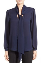 Women's Leith Crepe Tie Neck Top
