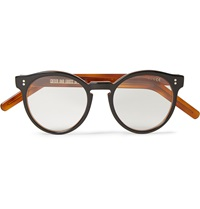 Round Frame Acetate Optical Glasses Brown