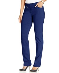 Jm Collection Curvy Fit Slim Leg Pants Only At Macy's Blue Sapphire