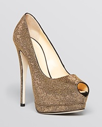 Giuseppe Zanotti Peep Toe Platform Pumps Sharon Studded High Heel