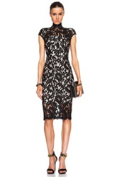 Lover Warrior Lace Midi Dress In Black Floral