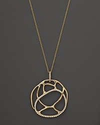Bloomingdale's Diamond Circle Pendant In 14K Yellow Gold .25 Ct. T.W. Yellow Gold White Diamonds