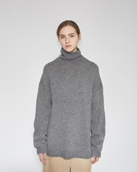 Acne Studios Saara Wool Turtleneck Dark Grey Melange