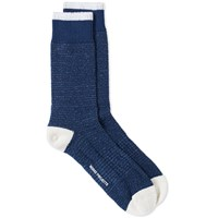 Norse Projects Bjarki Texture Socks Blue