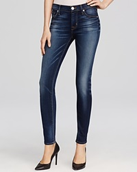 Hudson Nico Mid Rise Super Skinny Jeans In Blue Gold