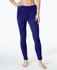 Ideology Space Dyed Brush Lined Fleece Base Layer Leggings Only At Macy's Rich Plum Spacedye