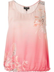 Giorgio Armani Striped Degrada Tank Top Pink And Purple