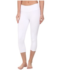 Alo Yoga Airbrushed Capri White 1 Women's Workout
