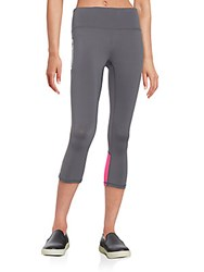 Reebok Dash Capri Leggings Dim Grey