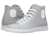 Marc Jacobs Clean Nappa High Top Sneaker Grey Men's Shoes Gray