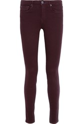 Vince Riley Low Rise Skinny Jeans Burgundy