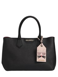 Karl Lagerfeld K Saffiano Leather Tote W Choupette Tag