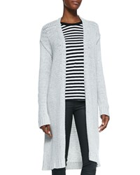 Zadig And Voltaire Cashmere Knit Long Open Cardigan Craie
