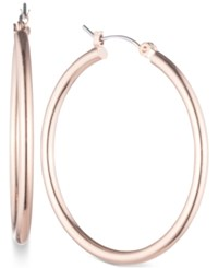Nine West Rose Gold Tone Large Hoop Earrings