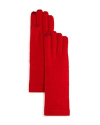 Aqua Solid Tech Gloves Red