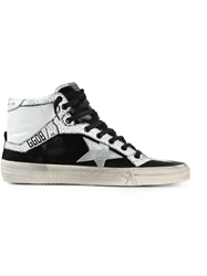Golden Goose Deluxe Brand High Top Lace Up Sneakers Black