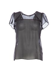 Lavand Silk Sheer Top Black