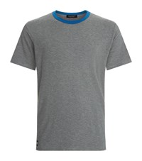 Homebody Contrast Trim Lounge T Shirt Male Dark Grey