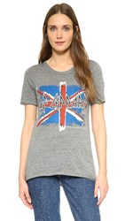 Chaser Def Leppard British Flag T Shirt Grey