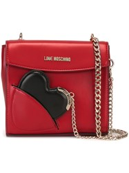 Love Moschino Heart Shoulder Bag Red