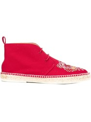 Kenzo Embroidered Desert Boots