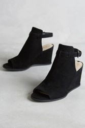 Anthropologie Miss Albright Tamalou Wedges Black 5 Wedges