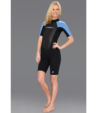 O'neill Reactor Spring Suit Black Ruby Blue Black Women's Wetsuits One Piece