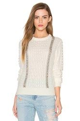 Endless Rose Long Sleeve Beaded Detail Sweater Ivory