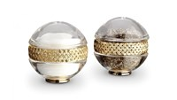 L'objet Braid Spice Jewels Salt And Pepper Set Gold