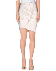 Mangano Skirts Knee Length Skirts Women Light Grey