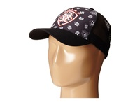 Ariat Paisley Bandana Shield Cap Black Caps