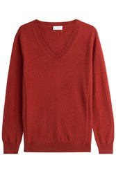 Closed Pullover With Wool And Cashmere Red
