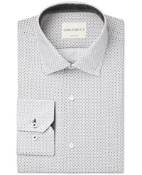 Construct Con. Struct Slim Fit Black And White Square Print Dress Shirt