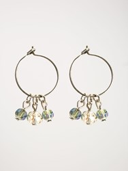 White Stuff Jewelled Bead Hoop Earring