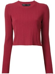 Proenza Schouler Cropped Ribbed Jumper Red
