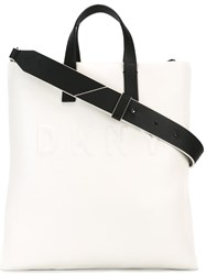 Dkny Embossed Logo Tote Nude Neutrals