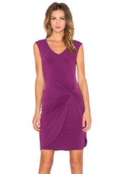 Velvet By Graham And Spencer Lake Stretch Jersey Dress Wine