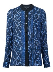 Proenza Schouler Abstract Print Shirt Blue