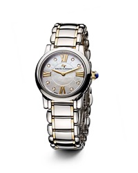 David Yurman Classic 30Mm Stainless Steel Quartz With Diamond Markers And Gold White