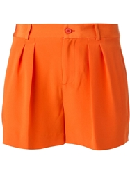 Polo Ralph Lauren Pleated Shorts Yellow And Orange