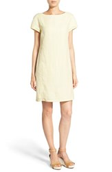 Women's Eileen Fisher Bateau Neck Organic Linen Shift Dress Daisy