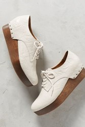 Anthropologie Millennial Jamie Platform Oxfords White