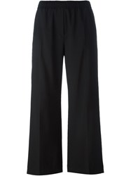 Msgm Cropped Trousers Black
