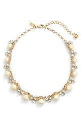Women's Kate Spade New York 'Bouquet' Faux Pearl Collar Necklace