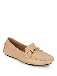 Saks Fifth Avenue Leather Bit Driver Moccasins Porcelain