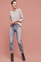 Anthropologie Citizens Of Humanity Liya Ultra High Rise Straight Jeans Light Denim