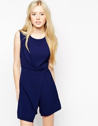 Wal G Skort Playsuit Navy