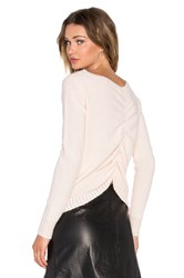 Shae Sasha Ruched Back Sweater Peach